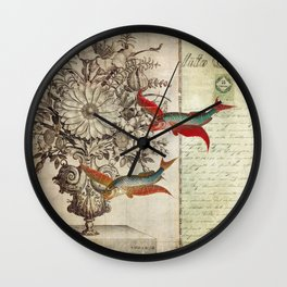 Fish of a Feather Wall Clock