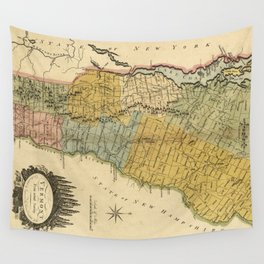 Vintage Map of Vermont (1814) Wall Tapestry