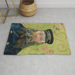 The Postman by Vincent van Gogh Rug