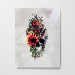 Two Face Skull Metal Print