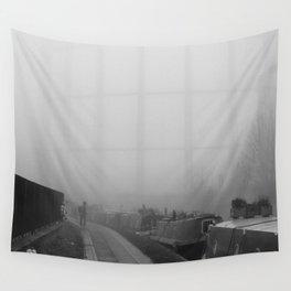 London Fog in Regents Canal III  by Diana Eastman Wall Tapestry