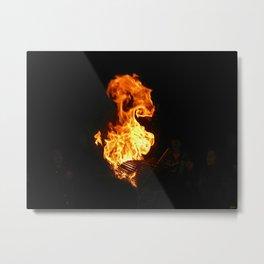 Mongolian Fire Metal Print