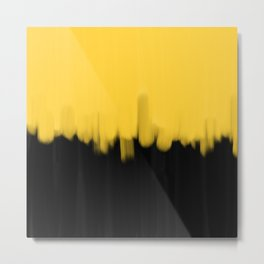 Yellow and Black Metal Print
