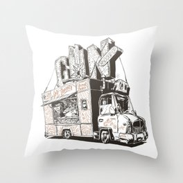 Shopping Truck Throw Pillow