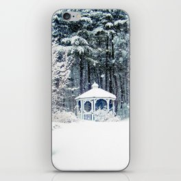 Snowy Gazebo iPhone Skin