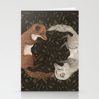 foxes Stationery Cards featuring Foxes by Jessica Roux