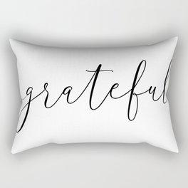 Grateful Typography, Single Word Design Rectangular Pillow