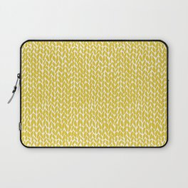 Hand Knit Yellow Laptop Sleeve