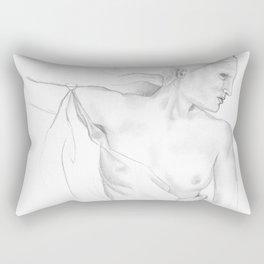 Bas-relief, Achilleion: Corfu, Greece. Rectangular Pillow