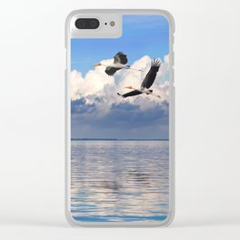 On The Wings Of The Wind Clear iPhone Case