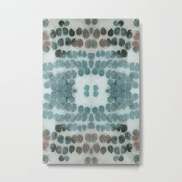 Sea Shell Disco Turquoise Metal Print