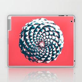 pine cone pattern in coral, aqua and indigo Laptop & iPad Skin