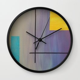 Abstract Boxes Wall Clock