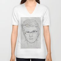 tyler spangler V-neck T-shirts featuring Tyler Oakley by EleanorOrchard