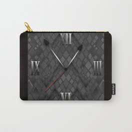 Watch. Black and white pattern . Carry-All Pouch