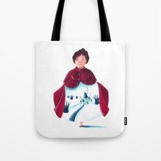 winter lady Tote Bag