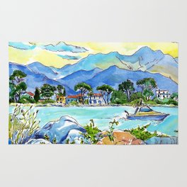 On the banks of the Magra River Rug