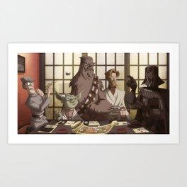 Sushi Wars Art Print