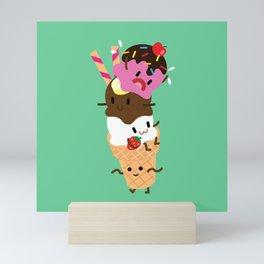 Neapolitan Ice Cream Mini Art Print