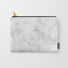 Marble White Texture Carry-All Pouch