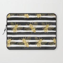 Golden bee noir Laptop Sleeve