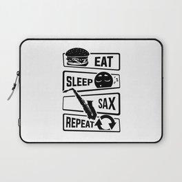 Eat Sleep Sax Repeat - Saxophone Music Instrument Laptop Sleeve