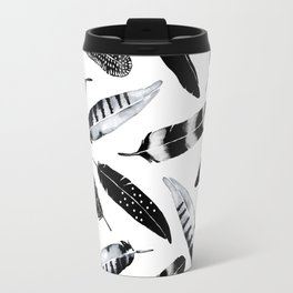 Frozen Feather Travel Mug