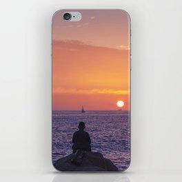 Man Enjoying Sunset iPhone Skin