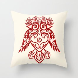 Forest Owl Throw Pillow