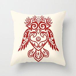 Forest Owl Throw Pillow