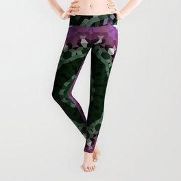 green mandala, kaleidoscope, green, mandala, green and purple, ethnic Leggings