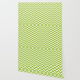 Simple Chevron Pattern - Apple Green & White - Mix & Match with Simplicity of Life Wallpaper