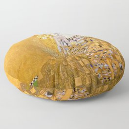 Gustav Klimt - Portrait of Adelle Bloch Bauer Floor Pillow