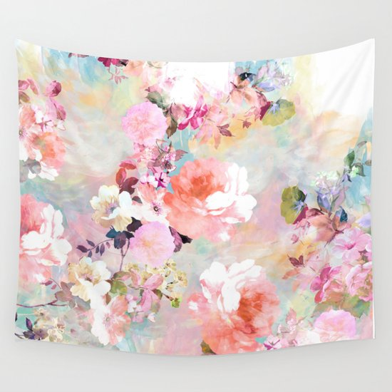 Pink Wall Tapestry love of a flower wall tapestrygirly trend | society6