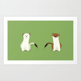 Lots of Stoats Art Print