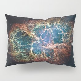Crab Nebula in constellation Taurus. Supernova Core pulsar neutron star. Pillow Sham