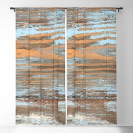 Vintage Wood With Color Splashes Blackout Curtain