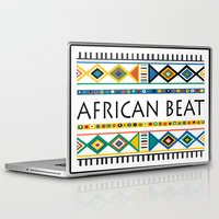 african Laptop & iPad Skins featuring African beat by mike lett