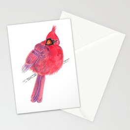 Glancing Cardinal Stationery Cards