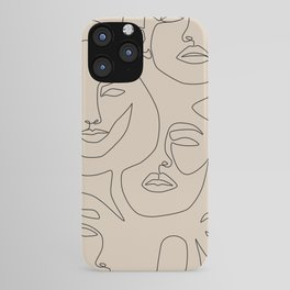 Faces In Beige iPhone Case