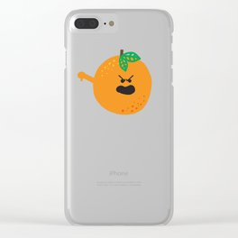 Vulgar Fruit // Obscene Orange Clear iPhone Case