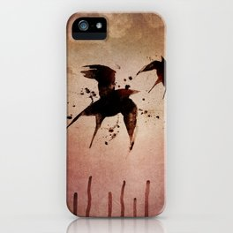 On your fears,  ... swallow them.   iPhone Case