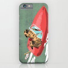 Two Pugs in a Speed Boat iPhone 6s Slim Case