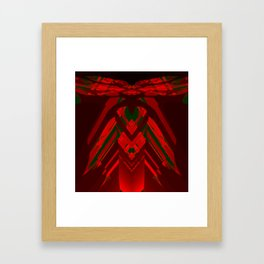look behind the wooden structure Framed Art Print