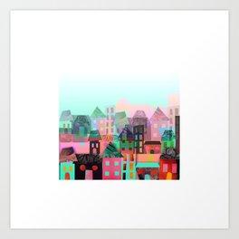 City Town Art Print