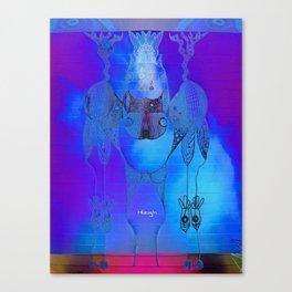 Tie Dye Scribble Canvas Print