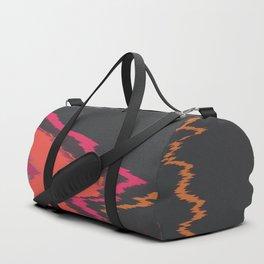 Glitched Retro Duffle Bag