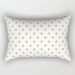 Polka Gold Rectangular Pillow