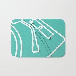 Neon Turntable 3 - 3D Art Bath Mat