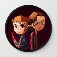 winchester Wall Clocks featuring Winchester brothers by Kaori